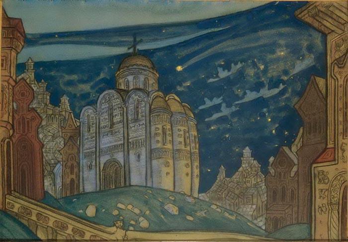 Н.К. Рерих. Путивль (Затмение).1914